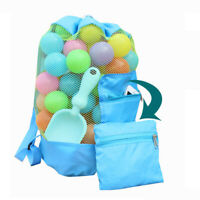 Kids Foldable Beach Toy Bag Sand Away Beach Storage Pouch Mesh Bag Drawstring