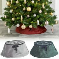 Christmas Tree Plush Velvet Tree Skirt Base Floor Cover Decor Home Mat Ornament