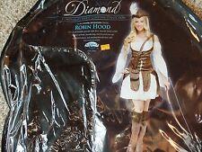 Women's Halloween Costume Robin Hood Complete Fun World Diamond LG 12-14   $90