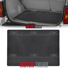 MOTOR TREND Black Rubber Mat Cargo Trunk Liner 1pc Odor-Free Non-Toxic