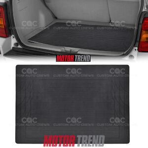 MOTOR TREND Black Rubber Mat Cargo Trunk Liner 1pc Odor-Free Non-Toxic