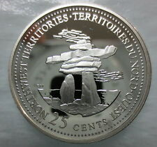 CANADA 1867-1992 ANNIVERSARY 25¢ NORTHWEST TERRITORIES SILVER PROOF QUARTER COIN