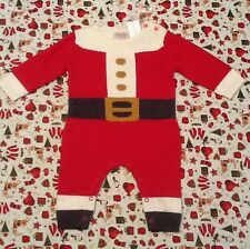 BNWT Cath Kidston Baby Boy Or Girl All In One Christmas Santa Suit 0-3 Months