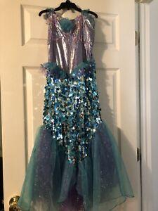 Mermaid costume girls, Halloween, Size M 8/10 EUC