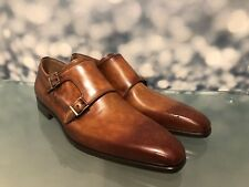 MAGNANNI DRESS SHOES DOUBLE MONK STRAP BEAUTIFUL PATINA TANNING RETAIL $435 SZ 8