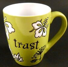 Trust Christian Art Gifts Green 2010 Coffee Cup Mug Never Used