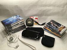 Sony PSP 1004 Schwarz Handheld-Spielkonsole +7 Spiele und 4 Filme + Zubehör