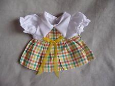 """Vintage Cute Medium Small Doll Dress Chubby Doll, 6.5"""" Long 9.5"""" waist"""