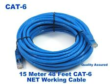 15 M 48 Feet Meter LAN Network Router CAT6 RJ45  BLUE CORD CABLE Ethernet Patch