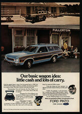 1973 FORD PINTO Blue Wood Paneled Station Wagon - Little Cash - VINTAGE AD
