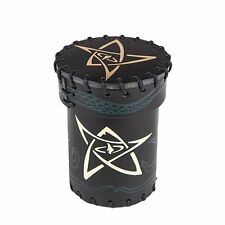 Q-workshop Qwoccth4 Call of Cthulhu Leather Dice Cup Blackgreen With Gold Game