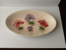 E RADFORD HANDPAINTED OVAL PLATE IN ANENEME DESIGN