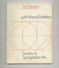1967 John Massey ART DIRECTION Society of Typographic Arts 40th Annual Exhibit