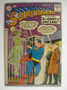 Superman #129, Ghost of Lois Lane, 1st Lori Lemaris, Fine+, 6.5, OWW Pages