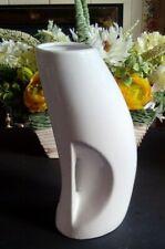 26 cm Tall White Modern Design Ceramic Flowers Vase Home Decor Gift