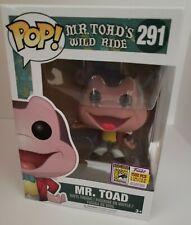 Funko Pop Disney Mr Toad's Wild Ride #291 SDCC Exclusive Mr. Toad LE 1500 NEW