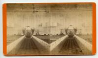 Church Interior Auburn N.Y. Vintage Stereoview Photo