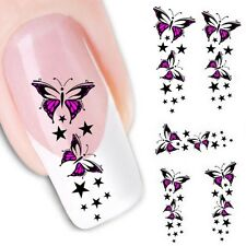 Butterfly Water Transfer Slide Decal Sticker Nail Art Tips To Decoration Salable