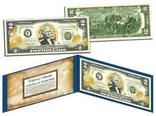 United States Marines $2 Bill Genuine Legal Tender Gold Leaf Laser Line Military
