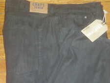 NWT CHAPS RALPH LAUREN POLO BLACK STRAIGHT FIT JEANS SZ: 52 X 34 52B