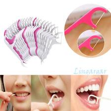100Pc Dental Floss Holder Oral Care Floss Aid Picks Teeth Care Interdental Brush