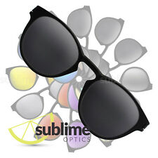POLARIZED Black (Dark Grey) Replacement Lenses for Oakley Latch  ~ Charcoal