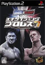 Used PS2 Exciting Pro Wrestling 7 Smackdown! vs. Raw2006 Japan Import