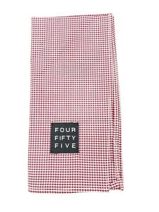 FOUR FIFTY FIVE POCKET SQUARE RED PLAID CHECK DESIGN