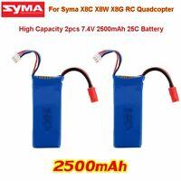 2PCS 7.4V 2500mAh 25C Power Battery For Syma X8C X8W X8G RC Quadcopter Drone