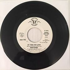 """Adam Wade  7"""" 45 MY TIME FOR LOVE / HALF THE WORLD* PROMO VG++/EX"""