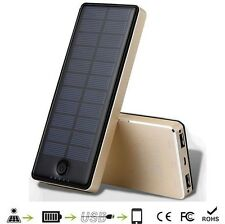 Solar Power Bank Portable Battery Charger 10000mah for Mobile iphone Tablet