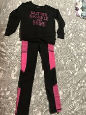 Girls Active Life Outfit Size 5 Pink & Black