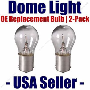 Dome Light Bulb 2-Pack OE Replacement - Fits Listed GMC Vehicles - 93