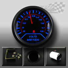 "Volt gauge Blue led 52mm 2"" 12v voltmeter interior dash universal custom car"