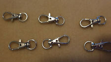 6 LARGE LOBSTER CLASPS KEY RINGS