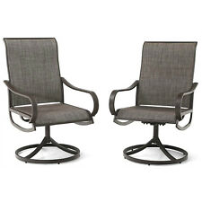 Patio Chair Set of 2 Metal Rocker Swivel Chair Outdoor Furniture for Garden Lawn