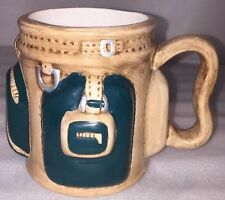 Vintage 1992 E & B Giftware Fred Hollinger Design Old Golf Bag Coffee Mug 14 oz