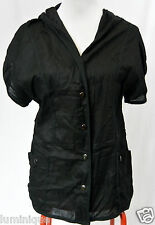 *SWEETAEACIA* Hooded Top 10 S Layering Blouse Cotton Thin Black Layer Topper