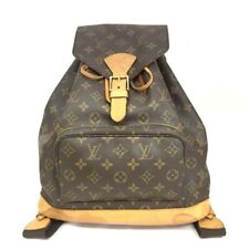 100% Authentic Louis Vuitton Monogram Montsouris GM Backpack /40186