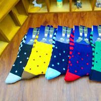 5 Pairs Lot Mens Designer Fashion Dress Socks New Stripe Argyle Colors Hot Cool