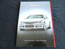 2011 Mercedes LORINSER E-class Coupe Catalog E550 E350 Spoilers Wheels Brochure