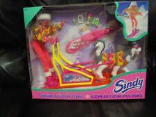 SINDY Snow Adventure w/Sled,Board & Husky Dog Set dated 1995
