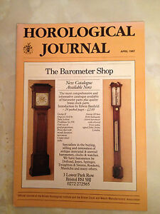 APR 1987 HOROLOGICAL JOURNAL MAGAZINE - SQUARE-WAVE OUTPUT FROM QUARTZ MODULE