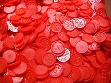 1000 Pfandmarken Wertmarken Event Einkaufswagenchips ,-50 als Gravur Ekw 08 Rot