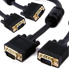 10M Premium Gold VGA SVGA Monitor Cable M/M For PC LCD  - Dual Shielded