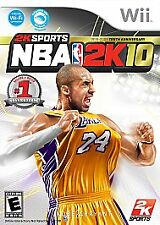 NBA 2K10 Basketball with Kobe Bryant Cover 10th Anniversary - Wii - VG Tested