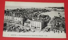CPA CARTE POSTALE 1910-1920 DIEPPE SEINE MARITIME 76 PANORAMA EGLISE ST JACQUES