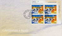 CANADA #1923 60¢ CHRISTMAS LIGHTS UR INSCRIPTION BLOCK FIRST DAY COVER