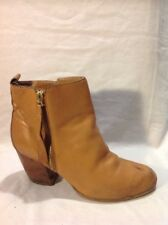 F&F Brown Ankle Leather Boots Size 5