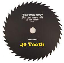 Brush Cutter Trimmer Blade 40 Tooth 25.4mm Dia Bore Strimmer Brush Shrubs Wood